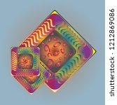 doodle bisquit cookie or... | Shutterstock .eps vector #1212869086