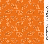 seamless pattern with roasted... | Shutterstock .eps vector #1212876220