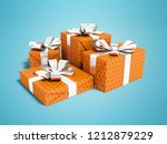 orange four gift tied with...   Shutterstock . vector #1212879229