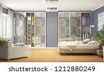 internal modern wardrobe for... | Shutterstock . vector #1212880249