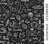 ketogenic food vector seamless... | Shutterstock .eps vector #1212886300