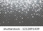 christmas snow. falling... | Shutterstock .eps vector #1212891439