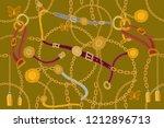 symmetric golden print. ...   Shutterstock .eps vector #1212896713