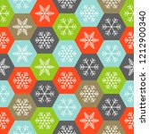 snowflake in hexagon  christmas ... | Shutterstock .eps vector #1212900340