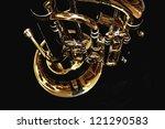 Golden Shiny Euphonium Closeup...