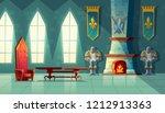 castle hall  interior of royal ... | Shutterstock . vector #1212913363