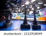 camera in studio are... | Shutterstock . vector #1212918049