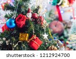 christmas background with... | Shutterstock . vector #1212924700