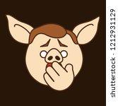 Emoji With Astonished Pig...