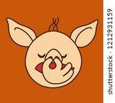 emoji with dissatisfied blond... | Shutterstock .eps vector #1212931159