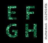 e f g h green camouflage... | Shutterstock . vector #1212931456