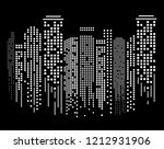 cityscape silhouette at night... | Shutterstock .eps vector #1212931906