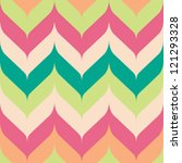 Seamless chevron background pattern with pointed and rounded edges | Shutterstock vector #121293328