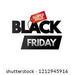 black friday sale banner | Shutterstock .eps vector #1212945916