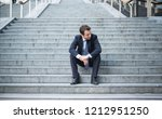 business in trouble after... | Shutterstock . vector #1212951250
