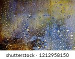 vintage colorful glass with... | Shutterstock . vector #1212958150