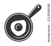 omelette in the pan icon | Shutterstock .eps vector #1212958180