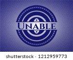 unable jean or denim emblem or... | Shutterstock .eps vector #1212959773