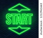 start lettering neon on a dark... | Shutterstock .eps vector #1212961663