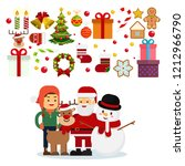 christmas concept set of new... | Shutterstock .eps vector #1212966790