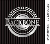 backbone silvery badge or emblem | Shutterstock .eps vector #1212970189