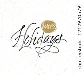happy holidays greeting card.... | Shutterstock .eps vector #1212970579