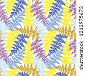 fern frond herbs  tropical... | Shutterstock .eps vector #1212975673