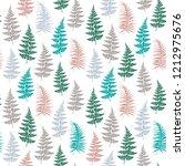 fern frond herbs  tropical... | Shutterstock .eps vector #1212975676