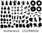 set of winter and christmas...   Shutterstock .eps vector #1212980326