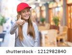 young beautiful girl wearing... | Shutterstock . vector #1212982840
