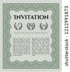 green retro vintage invitation. ... | Shutterstock .eps vector #1212991873