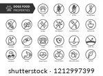 dog's food properties icon set  ... | Shutterstock .eps vector #1212997399