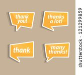 speech bubbles to talk about... | Shutterstock .eps vector #121299859