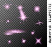 set of lens flares. light... | Shutterstock .eps vector #1212999766