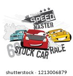 vector cartoon car illustration.... | Shutterstock .eps vector #1213006879