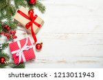 christmas background with fir... | Shutterstock . vector #1213011943