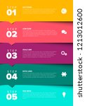 one two three four five  ... | Shutterstock .eps vector #1213012600