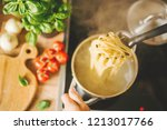 process of cooking homemade...   Shutterstock . vector #1213017766