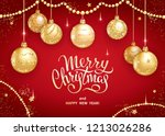 merry christmas and happy new... | Shutterstock .eps vector #1213026286