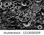 steampunk background  machine... | Shutterstock . vector #1213030339