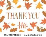thank you. handwritten text...   Shutterstock .eps vector #1213031983