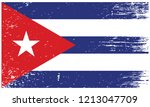 cuba national flag with grunge... | Shutterstock .eps vector #1213047709