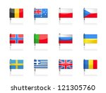 flag icons | Shutterstock .eps vector #121305760