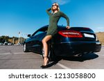 photo of sexy blonde woman in... | Shutterstock . vector #1213058800