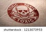 Toxic substances symbol over...