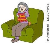 an image of a elderly woman... | Shutterstock .eps vector #1213074916