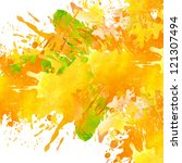 watercolor paint splash... | Shutterstock . vector #121307494