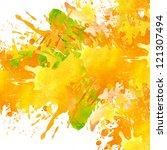 watercolor paint splash... | Shutterstock . vector #121307494