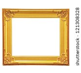golden picture frame | Shutterstock . vector #121308328