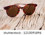 men's accessories with vintage... | Shutterstock . vector #1213091896
